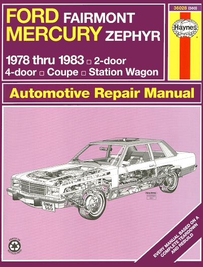 ford fairmont mercury zephyr repair manual 1978 1983 haynes rh themotorbookstore com Mercury 500 Wiring Diagram Mercury Grand Marquis Wiring Diagram