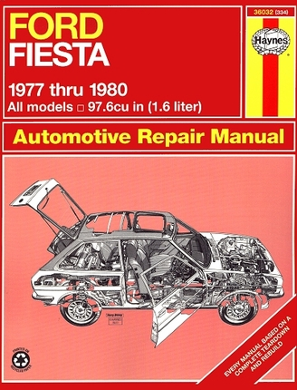 ford fiesta repair service manual 1977 1980 haynes 36032. Black Bedroom Furniture Sets. Home Design Ideas