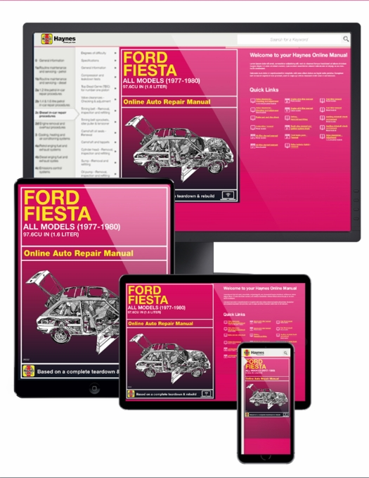 Ford Fiesta Online Service Manual, 1977-1980