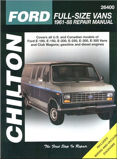 ford full size van repair manual 1961 1988 chilton rh themotorbookstore com ford transit van repair manual ford econoline repair manual free download