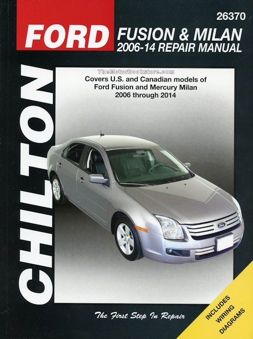 ford fusion mercury milan repair manual 2006 2014 chilton 26370 rh themotorbookstore com 2016 Ford Fusion 2010 Ford Fusion