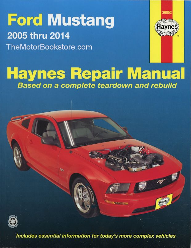 ford mustang gt v6 v8 repair manual 2005 2014 haynes 36052 rh themotorbookstore com Haynes Manual Pictures Back haynes manual reviews
