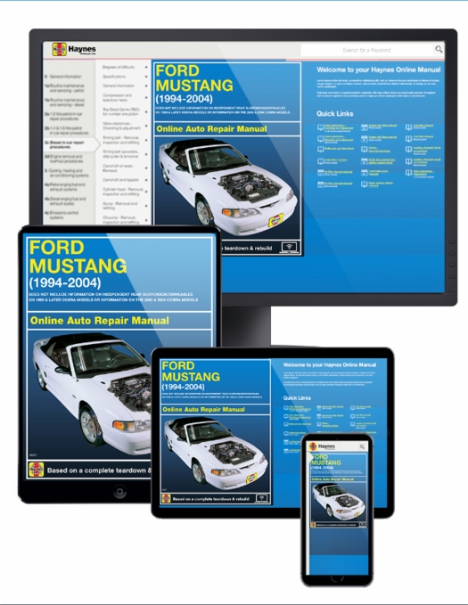 Ford Mustang Online Service Manual, 1994-2004