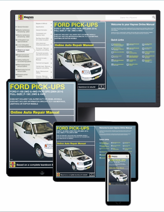 Ford f-150 pick-ups online service manual, 2015-2017.