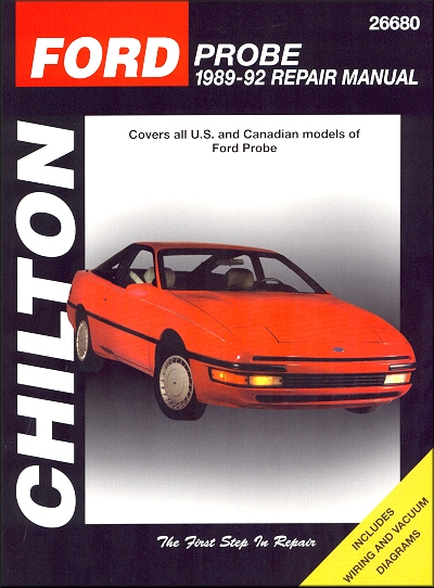 ford probe repair service manual 1989 1992 chilton 26680 rh themotorbookstore com 1992 Ford Probe 1990 Ford Probe
