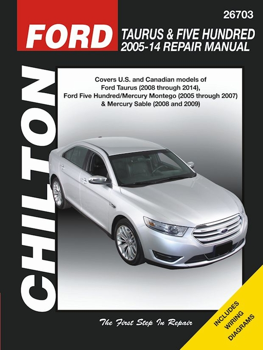 ford taurus   five hundred chilton repair manual 2005 2014 seloc service manual seloc manuals