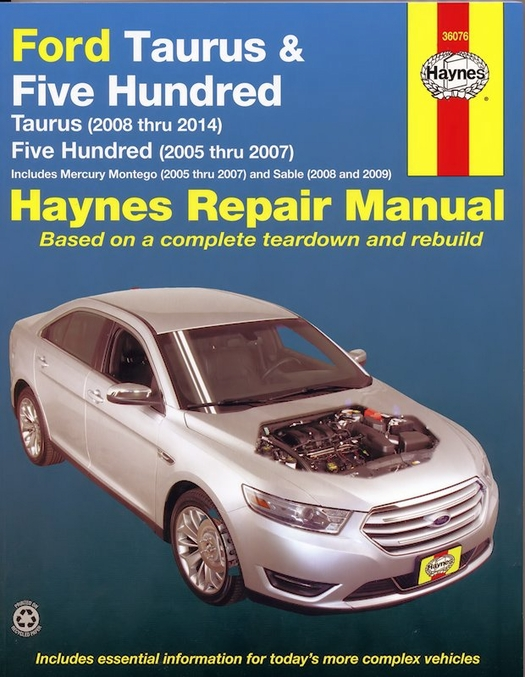 ford taurus repair manual 2005 2014 five hundred sable rh themotorbookstore com 2005 mercury sable repair manual 2004 mercury sable owners manual