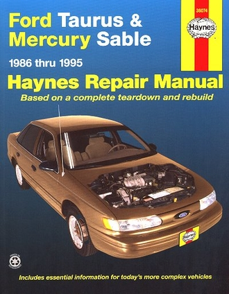 ford taurus mercury sable repair manual 1986 1995 haynes. Black Bedroom Furniture Sets. Home Design Ideas