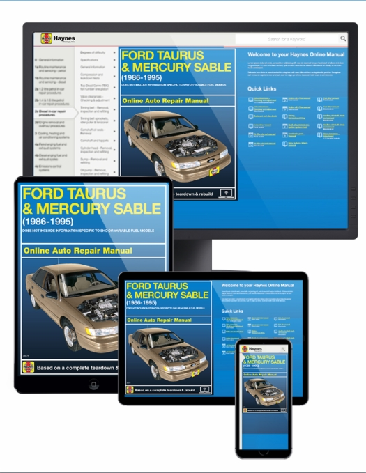 Ford Taurus & Mercury Sable Online Service Manual, 1986-1995