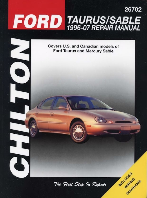 ford taurus mercury sable repair manual 1996 2007 chilton 26702 rh themotorbookstore com 1997 Mercury Sable 1998 Mercury Sable