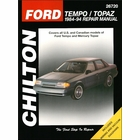 Ford Tempo, Mercury Topaz Chilton Repair Manual 1984-1994