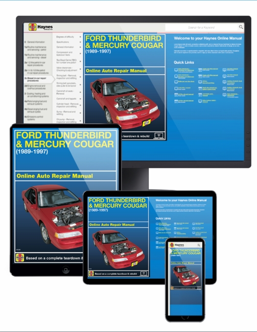 Ford Thunderbird & Mercury Cougar Online Service Manual, 1989-1997