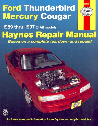 ford thunderbird mercury cougar repair manual 1989 1999 haynes rh themotorbookstore com 1999 Cougar Problems 1999 mercury cougar repair manual pdf