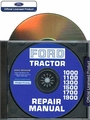 Ford Tractor 1000, 1100, 1300, 1500, 1700, 1900 Repair Manual on CD-ROM