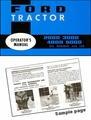 Ford Tractor 2000, 3000, 4000, 5000 (All Purpose and LCG) Operator's Manual 1965-1975