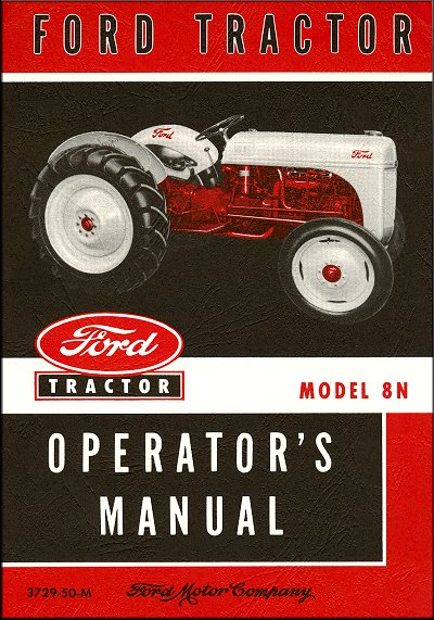 Ford Tractor Model 8N Operator's Manual 1948-1952