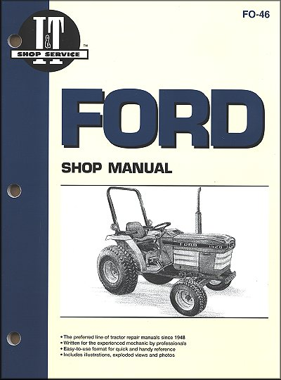 Ford Tractor Repair Manual 1120, 1220, 1320, 1520, 1720, 1920, 2120