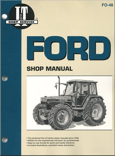 ford tractor repair manual models 5640 6640 7740 7840 8240 8340 26 ford tractor repair and service manual by i&t clymer fo 48 ford tractor 6640 wiring diagram at couponss.co