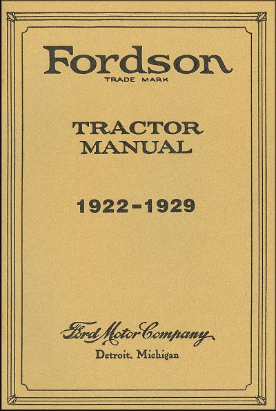 Fordson Tractor Instruction Manual 1922-1929