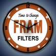 Fram Filters Wall Clock, LED Lighted