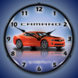 G5 Camaro SS Orange Wall Clock, Lighted