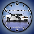 G5 Camaro Wall Clock, Lighted, Summit White