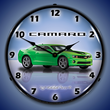 G5 Camaro Wall Clock, Lighted, Synergy Green