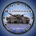 G5 Camaro Wall Clock, LED Lighted, Cyber Grey