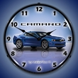 G5 Camaro Wall Clock, LED Lighted, Imperial Blue