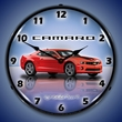 G5 Camaro Wall Clock, LED Lighted, Victory Red
