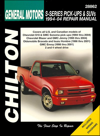 repair manual chevy s10 blazer gmc sonoma envoy jimmy etc rh themotorbookstore com 1994 chevy blazer 4x4 manual 1994 chevy blazer service manual