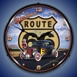 Get Your Licks on Route 66 Wall Clock, Lighted: Larry Grossman Art