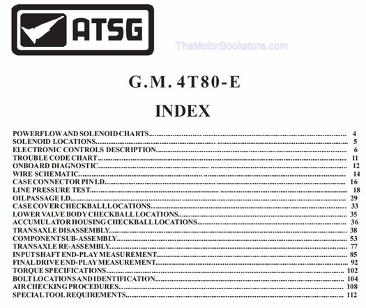 GM 4T80-E Transaxle Rebuild Manual on CD 1993-2011