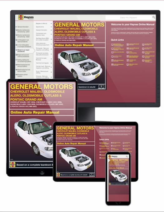 gm malibu alero cutlass grand am online service manual 1997 2003 rh themotorbookstore com 2003 oldsmobile alero repair manual free download 2003 oldsmobile alero repair manual free