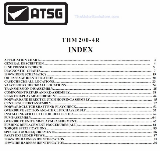 GM THM 200-4R Transmission Rebuild Manual on CD 1980-1999