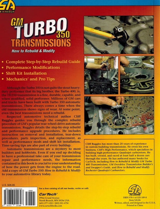 gm turbo 350 transmissions how to rebuild and modify sa326 seloc manuals free seloc manuals free download