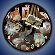 Golf Early Days  Wall Clock, Lighted: Sports