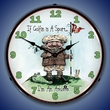Golf is a Sport  Wall Clock, LED Lighted: Sports