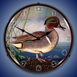 Green Wing Teal Duck Wall Clock, LED Lighted