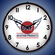 Gulf Aviation Wall Clock, LED Lighted