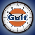 Gulf Wall Clock, LED Lighted