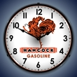 Hancock Gas Wall Clock, LED Lighted: Gas / Oil Theme
