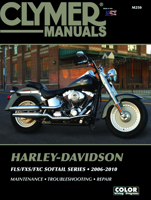 harley davidson fls fxs fxc softail repair manual 2006 2009 rh themotorbookstore com 2010 softail service manual 2010 harley softail service manual