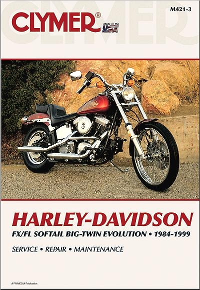 harley davidson fx fl evolution repair manual by clymer 1984 1999 rh themotorbookstore com Harley-Davidson Softail Deluxe Review 2012 harley davidson heritage softail service manual