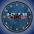 Hemi 5.7 Liter Wall Clock, LED Lighted