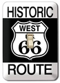 """Historic Route West U.S. 66\"" Light Switch Plate"