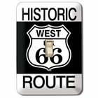 """Historic Route West U.S. 66"" Light Switch Plate"