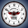 Holman Moody Wall Clock, LED Lighted