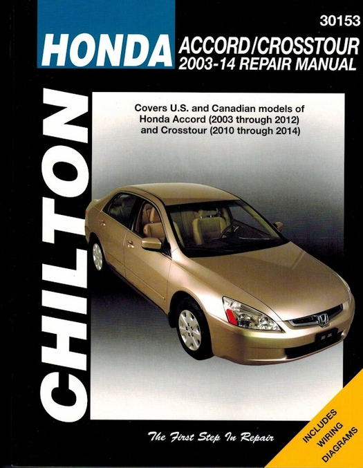honda accord and crosstour repair manual 2003 2014 rh themotorbookstore com 2012 Honda Accord Crosstour 2012 Honda Accord Crosstour