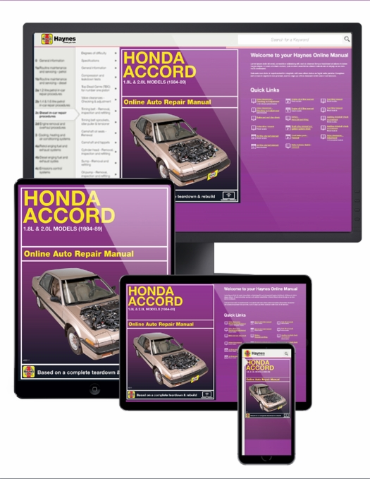 Honda Accord Online Service Manual, 1984-1989